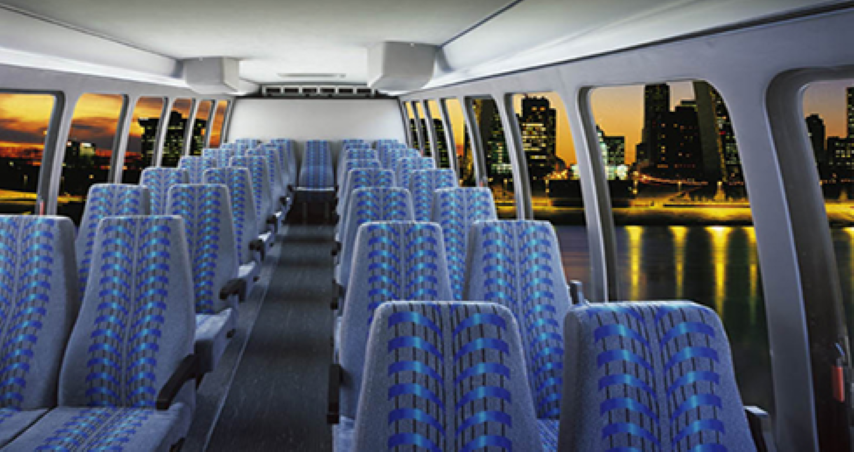 24 passenger shuttle bus interior