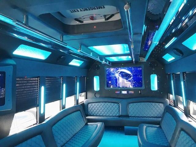 30 Passenger Limo Bus Interior