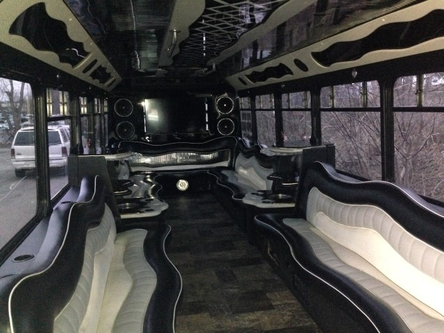 20 Passenger Limo Bus Interior