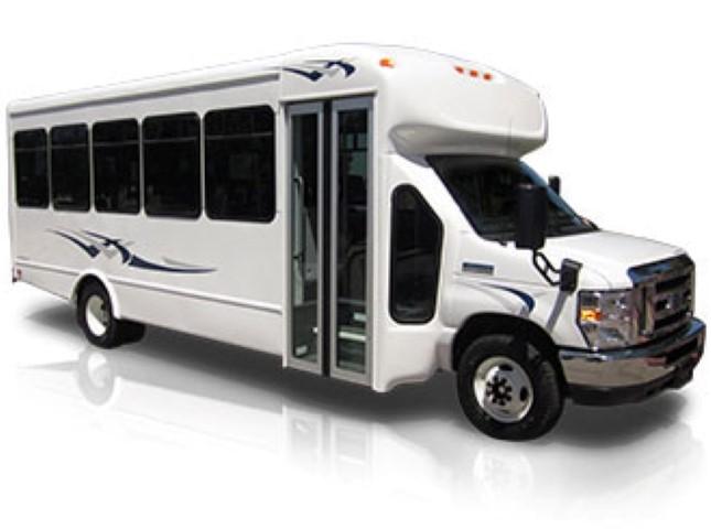 24 passenger shuttle bus exterior
