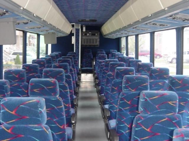 35 Passenger Charter Bus Interior