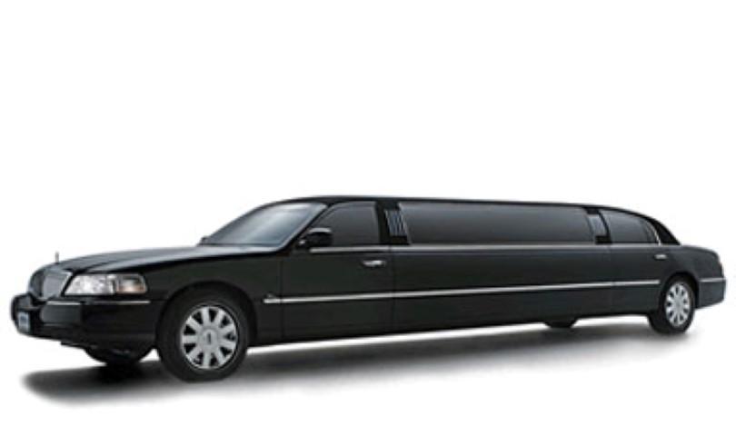 8 Passenger  Black Limo Exterior